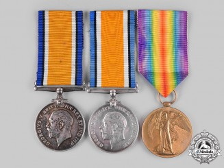 United Kingdom. A Lot of Three First War Medals