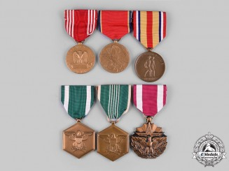 United States. A Lot of Six Army, Navy and Marine Corps Awards