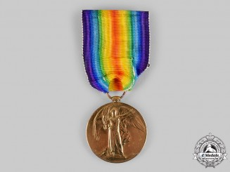 United Kingdom. A Victory Medal, to Private Alfred E. Blackall, 7th London Regiment