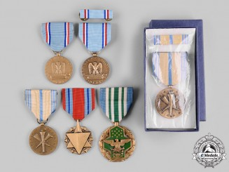 United States. A Lot of Six Air Force &  National Guard Awards