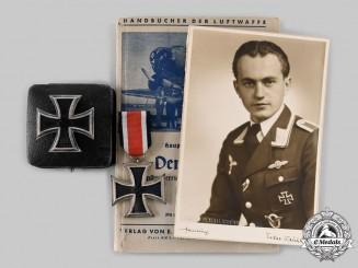 Germany, Luftwaffe. A Lot of Awards & Documents to Ludwig Harm, Stuka Pilot, Eastern Front KIA