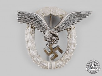 Germany, Luftwaffe. A Pilot's Badge by Gebrüder Wegerhoff