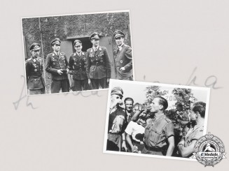 Germany, Luftwaffe. A Pair of Knight's Cross Recipient Photographs with Günther Rall Signatures
