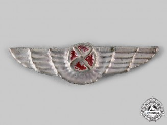 Spain, Civil War Era. Republican/Communist Air Force Pilots Badge, c.1936