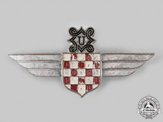 Croatia, Independent State. A Rare German Made Croatian Air Legion Insignia, c.1942