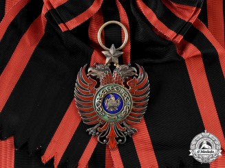 Albania, Italian Protectorate. An Order of Scanderbeg, Grand Cross Badge, by E. Gardino & Cravanzola, c.1940