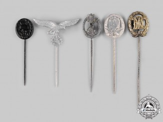 Germany, Wehrmacht. A Lot of Stick Pin Badges