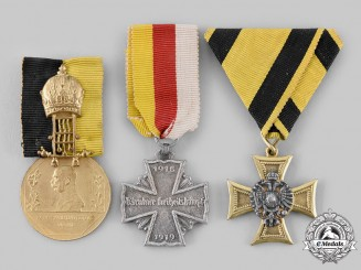 Austria, Empire. Three Medals & Decorations