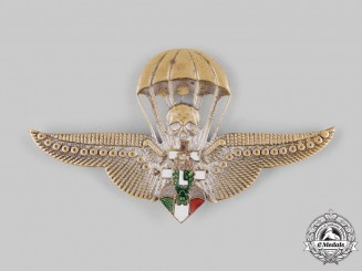 Hungary, Kingdom. A Rare Levente Parachutist Badge