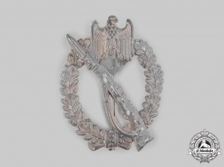 Germany, Heer. An Infantry Assault Badge, Silver Grade, by Rudolf Souval