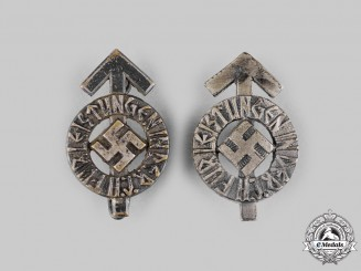 Germany, HJ. A Pair of Proficiency Badge Miniatures