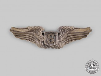 United States. An Army Air Force Service Pilot Badge, by Gemsco, NY., c.1940