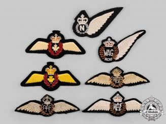 Canada, Australia, United Kingdom. Seven Air Force Badges