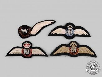 Australia, United Kingdom. Four Air Force Badges