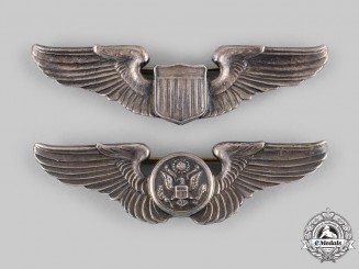 United States. Two Army Air Force Badges, c.1944