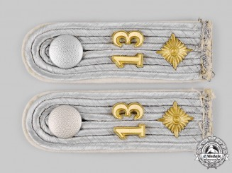 Germany, Heer. A Set of Infantry Oberleutnant Shoulder Boards