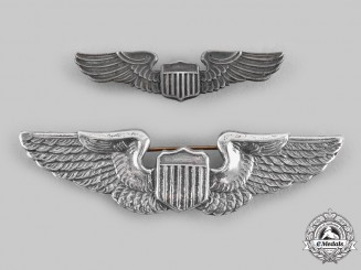 United States. Two Second War Army Air Force Pilot Badges