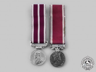 United Kingdom. Two Miniature Army Awards