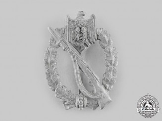 Germany, Wehrmacht. An Infantry Assault Badge, Silver Grade, by E. Ferdinand Wiedmann