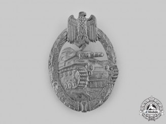 Germany, Wehrmacht. A Panzer Assault Badge, Silver Grade, by F.W. Assmann & Söhne