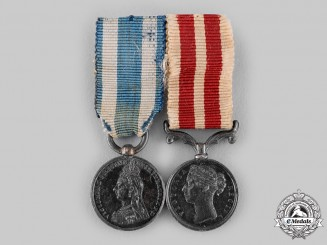 United Kingdom. An Indian Mutiny Miniature Medal Pair