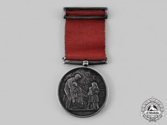 United Kingdom. A Society for the Protection of Life from Fire, Silver Grade Medal