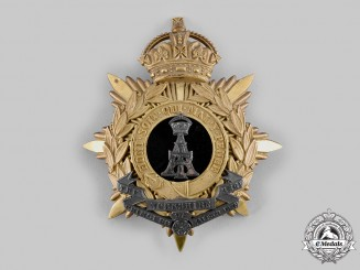 United Kingdom. An Alexandra, Princess of Wales's Own Yorkshire Regiment (Green Howards) Helmet Plate, c.1910