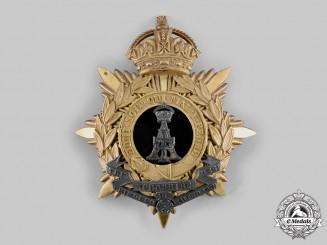 United Kingdom. An Alexandra, Princess of Wales's Own Yorkshire Regiment (Green Howards) Helmet Plate, c.1910