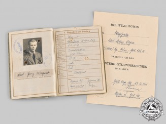 Germany, Heer. A Wehrpass & Award Documents to Obergefreiter Karl-Heinz Wagner