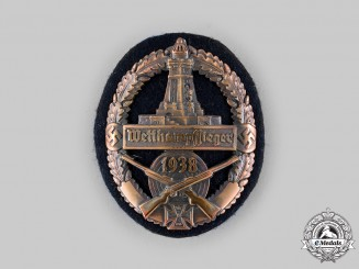 Germany, Third Reich. A 1938 Kyffhäuser League Combat Games Victor's Sleeve Badge