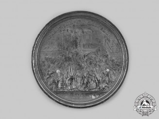 France, Revolutionary Period. A Storming of the Bastille Table Medal 1789