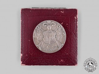 Germany, Third Reich. A 1933 Oschersleben Marksmanship Competition Medal, with Case, by L. Christian Lauer