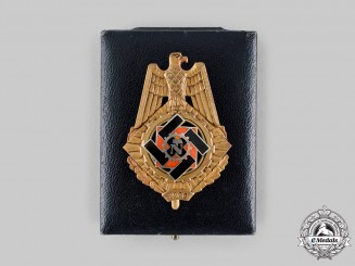 Germany, TeNo. A Rare Technical Emergency Help (TeNo) 1920 Honour Badge, with Case, by Wilhlem Fühner