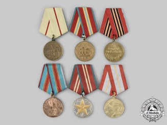 Russia, Soviet Union. Six Commemorative Medals