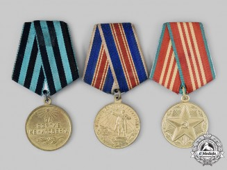 Russia, Soviet Union. Three Commemorative Medals