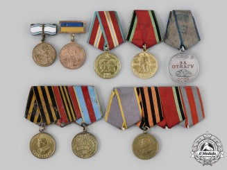 Russia, Soviet Union. A Lot of Eight Soviet Awards