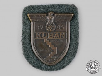 Germany, Wehrmacht. A Heer (Army) Issue Kuban Sleeve Shield
