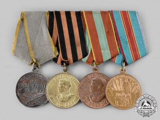 Russia, Soviet Union. A Second War Veteran's Group of Four