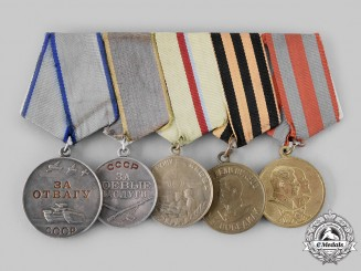 Russia, Soviet Union. A Defence of Kiev Medal Bar