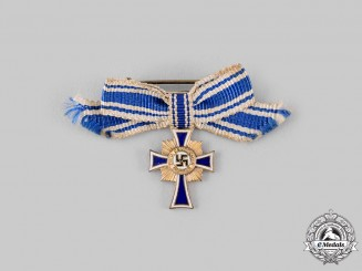 Germany, Third Reich. An Honour Cross of the German Mother, Gold Grade Miniature