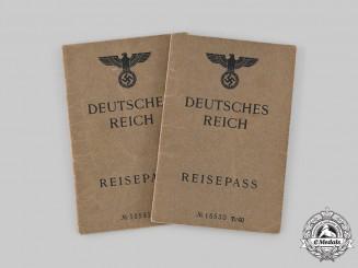 Germany, Third Reich. A Pair of Reisepässe to Leon and Alla von Hauffe