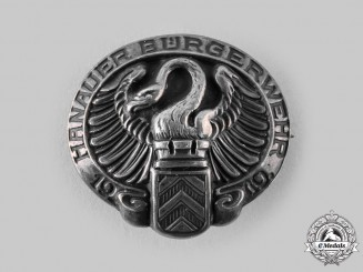 Germany, Weimar Republic. A 1919 Hanauer Bürgerwehr Freikorps Badge