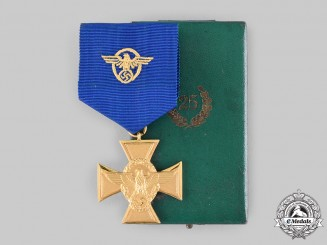 Germany, Ordnungspolizei. A 25-Year Long Service Medal with Case