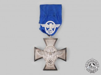Germany, Ordnungspolizei. A 18-Year Long Service Cross