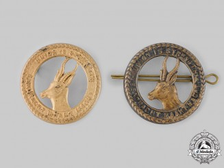 South Africa, Republic. Two South African General Service Army Cap Badges