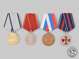 Russia, Russian Federation. Four Medals & Awards