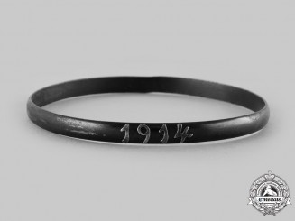 Germany, Imperial. A Trench Art Patriotic 1914 Bracelet