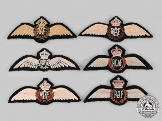 Canada, Australia, United Kingdom. Six Pilot Badges