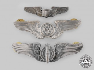 United States. Three Army Air Force Badges