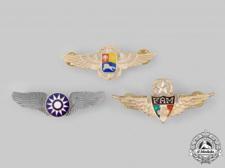 China, Republic (Taiwan); Mexico, Republic; Venezuela, Republic. Three Pilot Badges